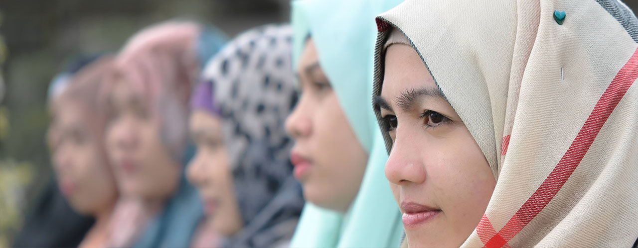 Young Muslim women in Bangsamoro, The Philippines