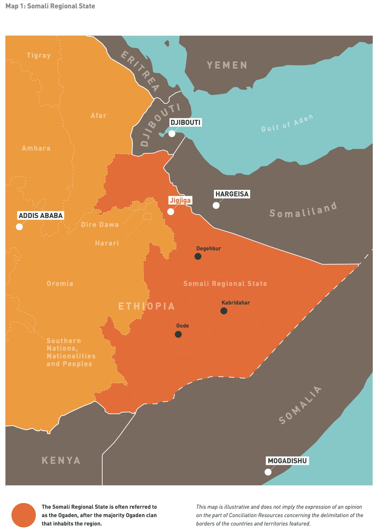 Map 1: Somali Regional State