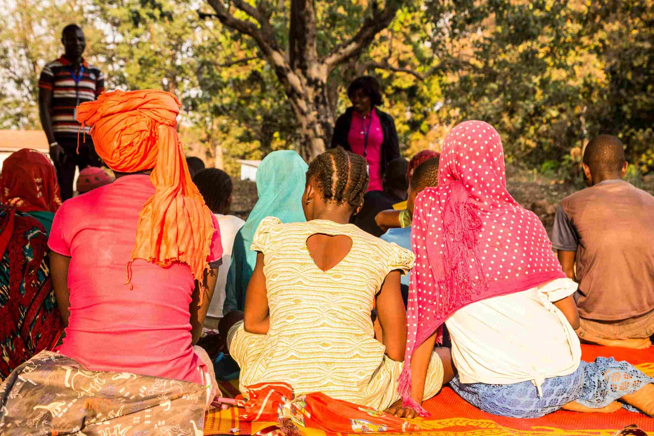 young female former combatants attend a rehabilitation session