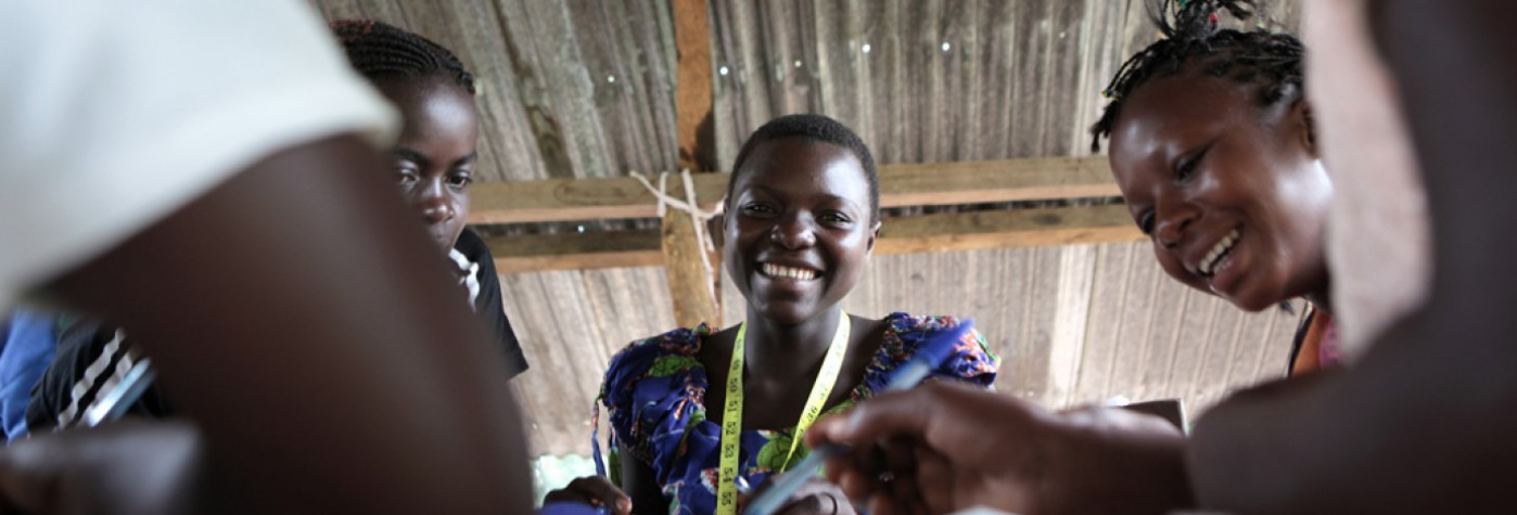 Young peacebuilders in DRC.