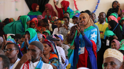 Crowd at ONLF conference in Ethiopia