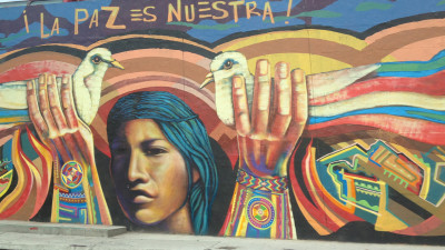 Peace mural in Bogata