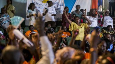 Women in South Sudan celebrate international women's day
