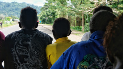 Young men in Bougainville