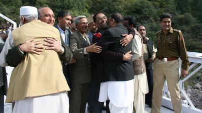 Meeting on Chakothi Bridge