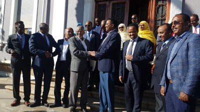 Signing of peace deal in Asmara, Eritrea