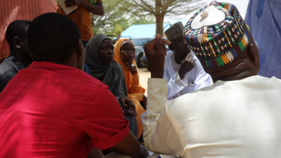 A community meeting in Nigeria