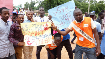 Young people in Nigeria calling for non violent elections