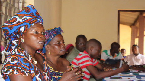 Communities discuss peacebuilding at a workshop in Bangui, Central African Republic (c) Conciliation Resources