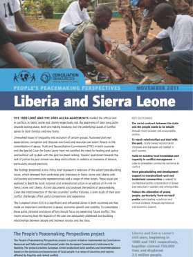 People's peacemaking perspectives: Liberia and Sierra Leone: Policy brief