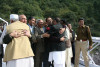 Traders and political leaders from either side of Kashmir meet on Chakothi Bridge after 60 years