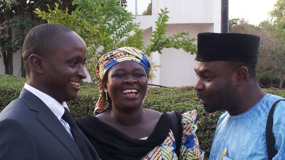 Members of CWF talking in Jos, Nigeria