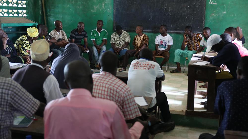A DPD meeting in Grand Cape Mount, Liberia