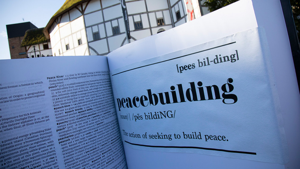 Help get peacebuilding in the dictionary