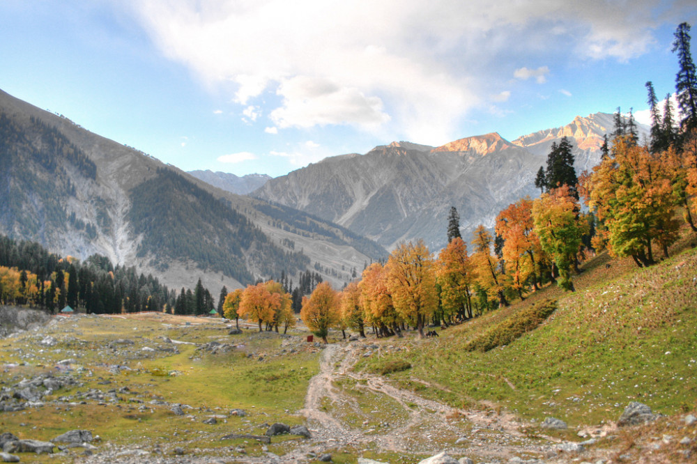 Mountain landscape in Kashmir